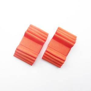 Shoe clip noeud plat orange