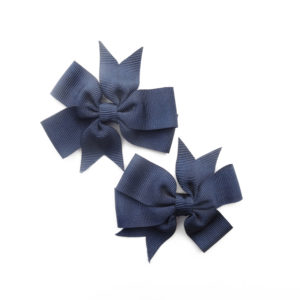 Shoe clip exploded knots navy blue