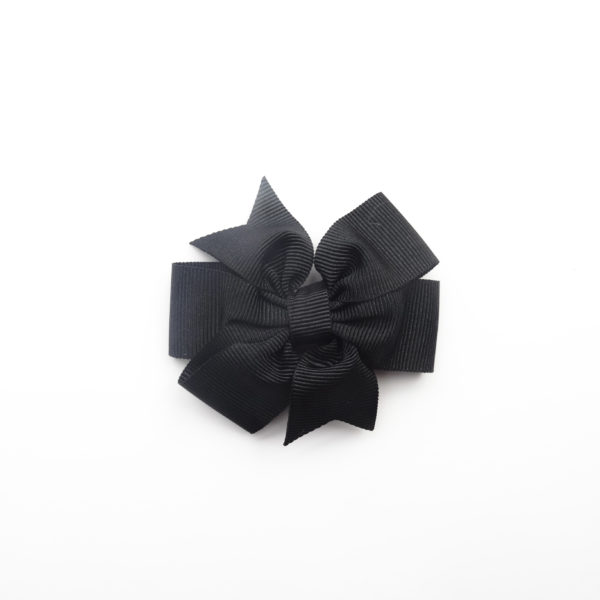 Shoe clip bow tie black