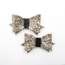 Shoes clips glitter gold