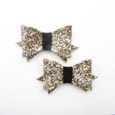 Shoes clips paillettes or