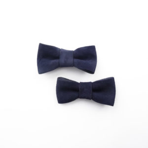 Navy blue upcycled decorations shoe clips bows